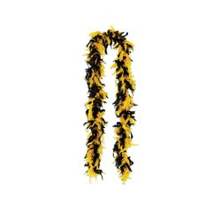 Fancy Feather Boa (black & golden-yellow) Party Accessory  (1 count)]()