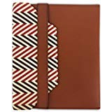 "Tablet Stylish Tailored Leather Protection Case Fits up to 10.1"" Soft Interior w/Closure (Brown Herringbone Tablet Sleeve)"
