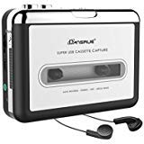 Cassette to MP3 Converter, USB Cassette Player Recorder to MP3 Convertor, Portable Audio Tape Player USB Cassette Capture for Mac PC Laptop