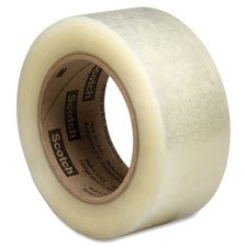 3M Scotch 313 Acrylic Box Sealing Adhesive Tape, 2.5 mil Thick, 100m Length x 48mm Width, Clear