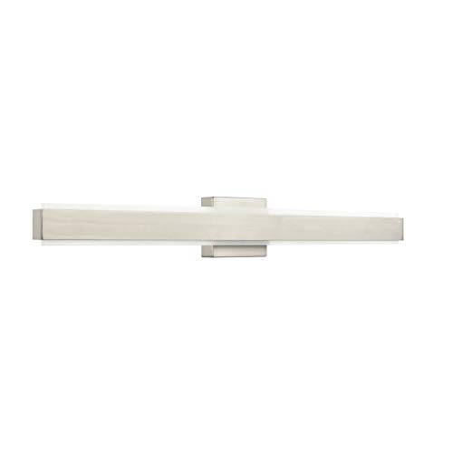 - Sevano 36 inch LED Bathroom Vanity Lights | Brushed Nickel Bathroom Light LL-WL981-1SN-36