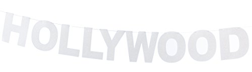 Glittered Hollywood Streamer Party Accessory (1 count) -