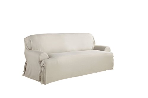 Serta 863069 Relaxed Fit Duck Slipcover T Sofa, White