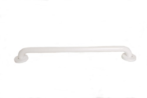 CSI Bathware BAR-SB36-TW-125-PW Stainless Steel 36-Inch Grab Bar, Straight Safety Bar, Concealed Flanges, White Powder-Coated (Pediatric Changing Table)