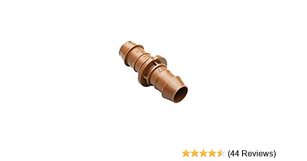 Fits All Sizes of 5//8 1//2 .700 Drip Tubing 4-Pack Rain Bird BC50//4PKS Drip Irrigation Universal Barbed Coupling Fitting