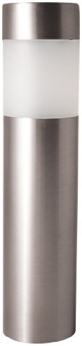 Paradise GL23158SS4 Stainless Steel Solar Bollard Light with White LED, 4-Pack, Stainless Steel