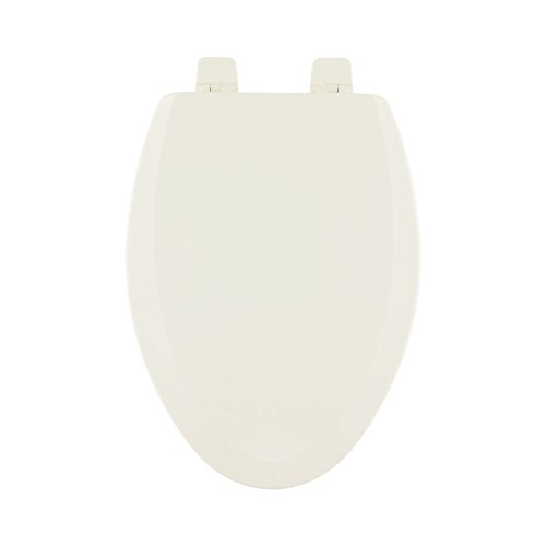 Centoco 900-416 Wood Elongated Toilet Seat with Closed Front, Biscuit/Linen