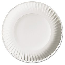 AJM AJMPP6GRE Green Label Paper Plates, Microwavable, 6