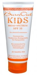 BurnOut SPF 35 KIDS Broad Spectrum, 3.4 oz.