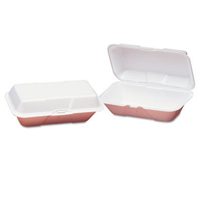 GNP21900 - Foam Hoagie Hinged Container, Large, White, 9-1/2x5-1/4x3-1/2, ()