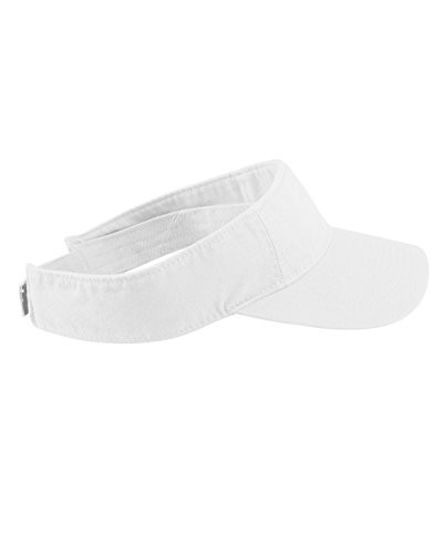 Cotton Twill Visor - Authentic Pigment Direct Dyed Cotton Twill Visor Hat Cap - White