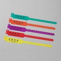 Posey 6247R Fall Precaution Bracelets, Red, 50 Count