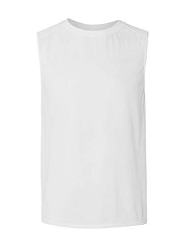 nce 4.5 oz. Sleeveless T-Shirt - WHITE - L ()