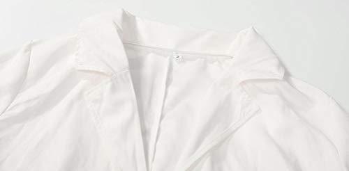 Abrigos Outerwear Con Blanco Mujer Otoño Clásica Botonadura Fashion Slim Doble Blancas De Elegantes Gabardina Manga Larga Primavera Fit Solapa Cinturón Chaquetas Informales Ropa AAHrS