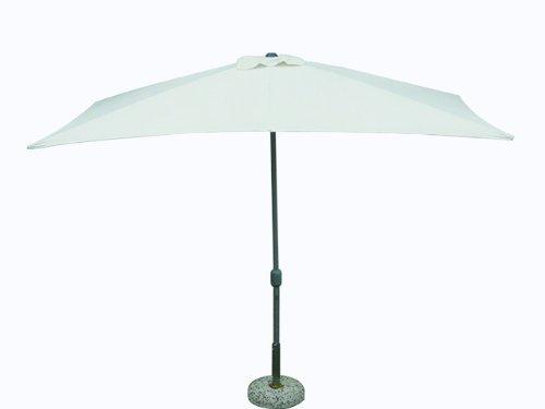 Maffei Art 221 rechteckiger Schirm cm 300x200, Stoff Polyester, Metall Gestell mit Kurbel zu oeffnen. Made in China. Farbe ecru.