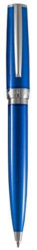 Marquis by Waterford Convenient Push-top Ballpoint Retractable Pen, Blue Lacquer ()