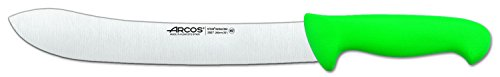 Arcos 10-Inch 250 mm 2900 Range Curved Butcher Knife, Green