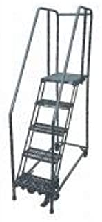 product image for Cotterman 1505R1820A6E30B4W4C1P6 - Rolling Ladder Steel 80In. H. Gray