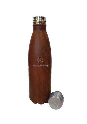 Mercedes Benz 16 oz. Wood Grain Water Bottle with Twist Off Cap