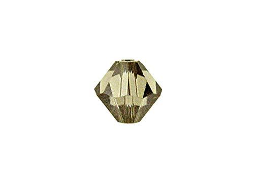 Swarovski Crystal, 5328 Bicone Beads 5mm, Greige, Wholesale Packs | Pack of 144 (Greige Bicone)