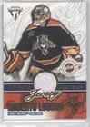 Roberto Luongo #1143/1,403 (Hockey Card) 2002-03 Pacific Private Stock Titanium - Authentic Game-Worn Jerseys #33