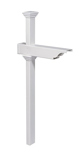 (Zippity Outdoor Products ZP19010 Rockport Mailbox Post, White)
