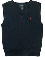 Polo Ralph Lauren Cable Knit Sweater Vest Infant-toddlers Boys (24 MONTHS, NAVY)
