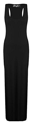 Glossy Look - Vestido - Básico - Sin mangas - para mujer negro
