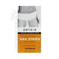 PARISSA WAX STRIPS,Q&E,FACE-BIKIN, 16 CT