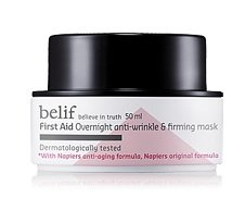 KOREAN COSMETICS, LG Household & Health Care_ belif, First Aid - Overnight Anti-Wrinkle & Firming Mask (50ml, anti-aging, anti-wrinkle, elasticity, pack)[001KR]