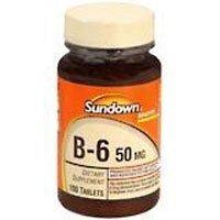 Sundown Vitamins Vitamin B-6 tabs 50 MG SDWN Size: 100+50 by SUNDOWN VITAMINS.