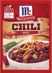 McCormick Chili, Hot, 1.25-Ounce Units (Pack of 24)