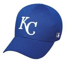 MLB YOUTH Kansas City ROYALS Home Blue Hat Cap Adjustable Velcro TWILL