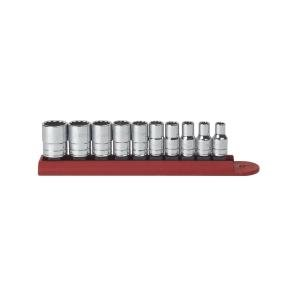 - GearWrench 80307 10 Piece 1/4-Inch Drive 12 Point Standard SAE Socket Set