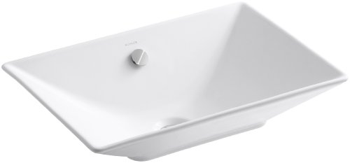 KOHLER K-4819-0 Reve vessels Bathroom Sink, White