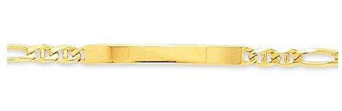 www.diamants-perles.com - Bracelet enfant - Identité bébé - Gourmette - Or - Maille Cheval alternée