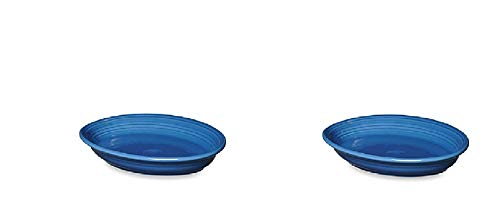 2 Pack 13.6-Inch Oval Platter in Lapis - Chip-Resistant With A Brilliant Glaze, Durable Ceramic (Serving Oval Platter Fiesta)