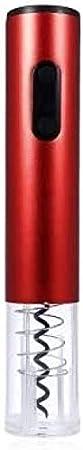 TETHYSUN Abrebotellas de vino Sacacorchos eléctrico original eléctrico abridor de vino sacacorchos automático de botellas de vino kit inalámbrico con cortador de lámina y vacío-azul (color: rojo)