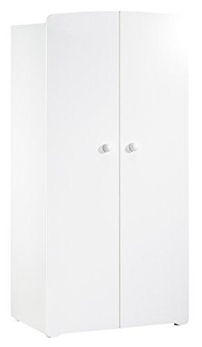 BABY PRICE New Basic Armoire Chambre Bébé 2 Portes Avec Bouton Boule Blanc:  Amazon.fr: Bébés U0026 Puériculture