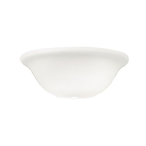 Kichler Fan Light (Kichler 340013, White Satin Etched Cased Opal Glass Bowl for Ceiling Fan, Globe Light Cover Only)