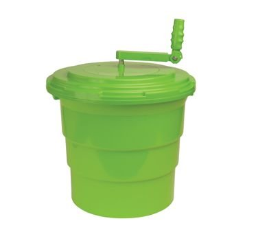 Winco PLSP-5G Salad Spinner, 5 Gal. , 16.93'' X 16.93'' X 18.11'', Foldable Solid Handle & Durable