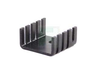 UNITUS CO. LTD. SP412K LOW PROFILE HEAT SINK PRE-BLACK MADE IN JAPAN (QTY 10)