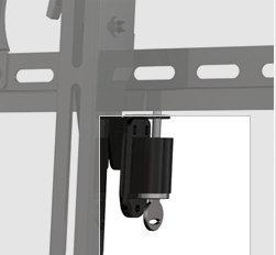 (Anti Theft Locking Tilt TV Wall Mount Bracket for Sharp LC-40LE433U LED HDTV TV**Key Locking**)