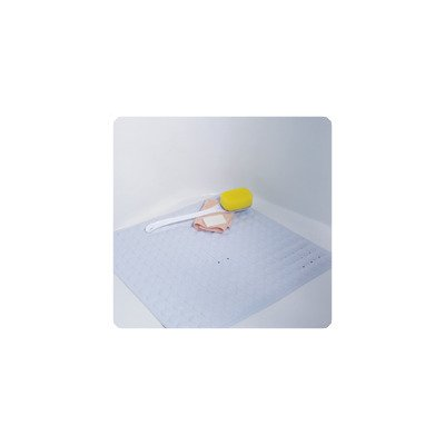 DMI Non-Slip Suction Cup Shower Mat with Drain Holes for Tub or Shower, 21 Inch Square, Blue by HealthSmart
