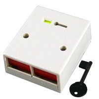 CQR Dual Push Panic Button White