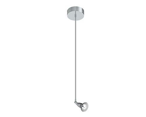 Prima Lighting 963-00-1122-F-PC-30 Bruford Track Head, Small, Polish Chrome/Frosted Glass Shade