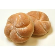 Rotellas White Kaiser Dinner Roll, 3.5 inch Diameter - 8 per pack -- 9 packs per case.