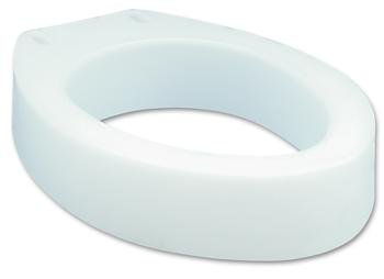 Elevated Elongated Toilet Seat - Round - 4 Each / Case