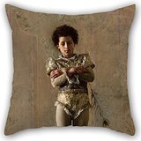 - Artistdecor Throw Pillow Covers Of Oil Painting Antonio Mancini, Italian - Il Saltimbanco,for Wife,living Room,festival,monther,adults,club 16 X 16 Inches / 40 By 40 Cm(twice Sides)