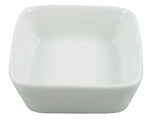 1 Dz White Porcelain Square Sauce/Side Dishes (2.5